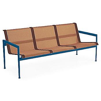 Chestnut Fabric / Blue Frame / Brown Trim