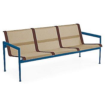Bronze Fabric / Blue Frame / Brown Trim
