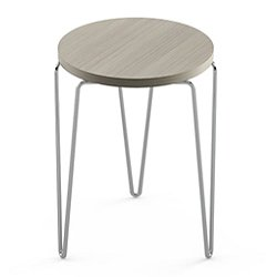 Florence Knoll Hairpin Wood Stacking Table