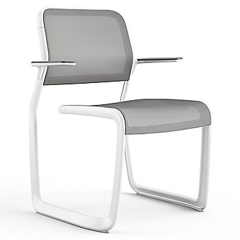 Grey fabric / Warm White frame