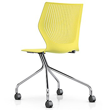 Yellow color/ Chrome finish/ Armless option
