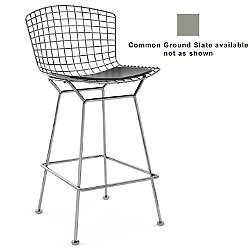 Bertoia Barstool with Seat Cushion (Slate/Chrome) - OPEN BOX