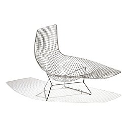 Bertoia Asymmetric Chaise, Unupholstered