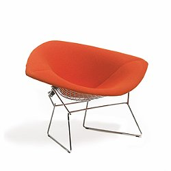 Large Diamond Lounge Chair, Fully Upholstered