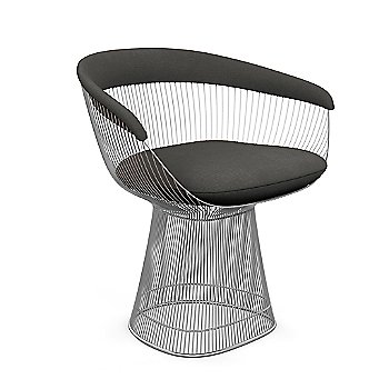 Polished Nickel finish, Knoll Velvet: Graphite material