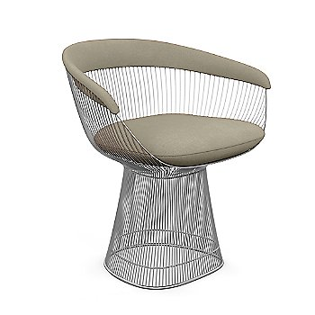 Polished Nickel finish, Knoll Velvet: Sandstone material