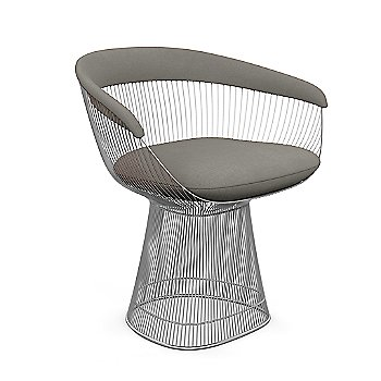 Polished Nickel finish, Knoll Velvet: Silver material