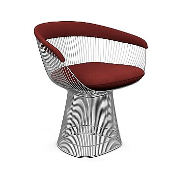 Polished Nickel finish, Knoll Velvet: Bayberry material