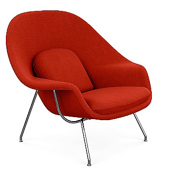 Classic Boucle: Crimson color / Polished Chrome finish