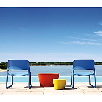 Lifestyle, shown with Maya Lin Stone Seat and Spark Stacking Lounge Chairs