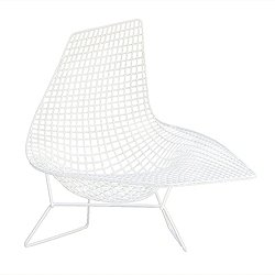 Unupholstered Bertoia Asymmetric Chaise, Outdoor