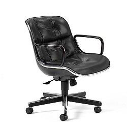 Charles Pollock Executive Armchair with Black Frame
