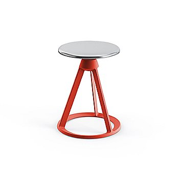 Polished Aluminum with Red Coral finish