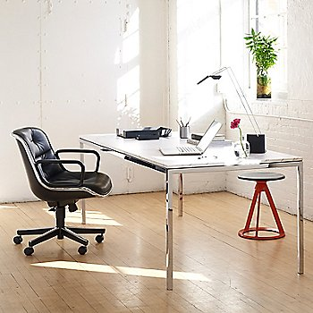 Piton Fixed Height Stool, Indoor, in use