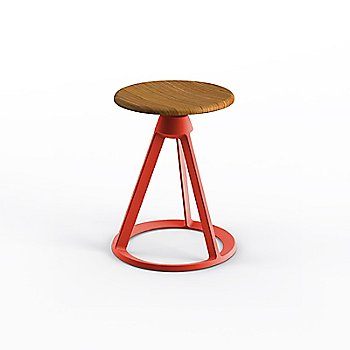 Teak seat with Red Coral base finish