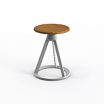 Teak seat with Sterling base finish