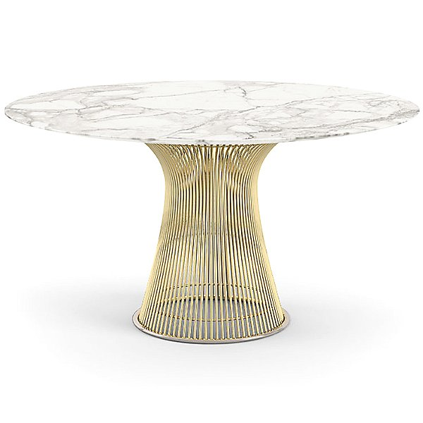 Platner Dining Table in Gold