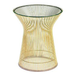 Platner Side Table in Gold