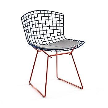 Blue Basket / Red Base / Vinyl Fog Upholstery
