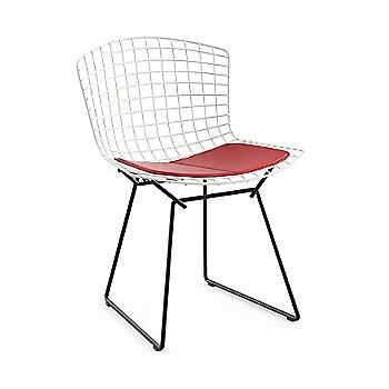 White Basket / Black Base / Vinyl Red Upholstery