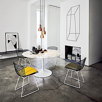 In Use with Saarinen Dining Table and Bertoia Bench