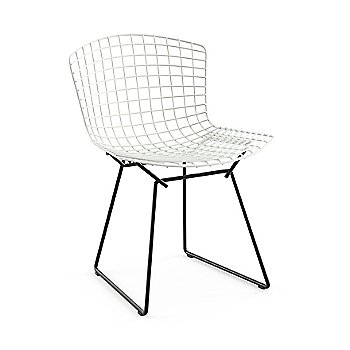 Bertoia Two-Tone Side Chair with Saarinen Round Dining Table