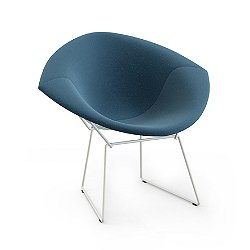 Bertoia Two-Tone Diamond Chair, Fully Upholstered