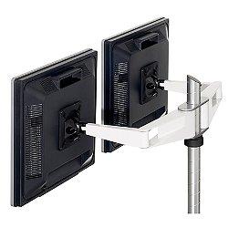 Sapper Double Monitor Arm (Tbl Clmp/White/Black) - OPEN BOX