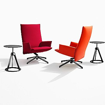Shown with the Piton Stool/Side Table