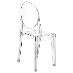 Victoria Ghost Chair 4856 (Crystal) - OPEN BOX RETURN