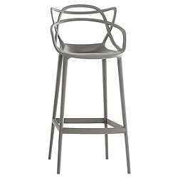 Masters Stool by Kartell (Grey/Counter) - OPEN BOX RETURN