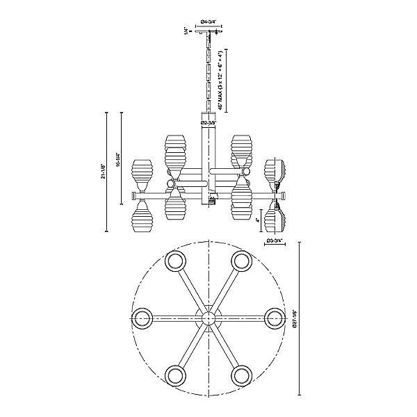 Honeycomb 3-Tier LED Chandelier