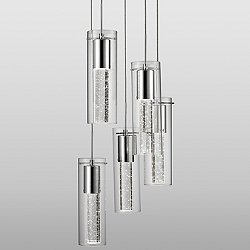 Champagne LED Multi Light Pendant Light