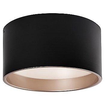 Medium size / Black with Gold Interior finish