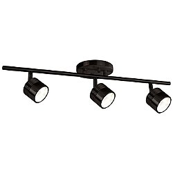 Modern LED Single Fixed Track (Dark Bronze/3 Light) - OPEN BOX RETURN