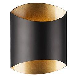 Preston LED Wall Sconce (Black W/ Gold Interior) - OPEN BOX