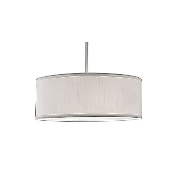 Shown in Brushed Nickel finish with White Shade color, Large size