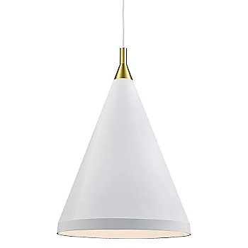 Shown in White with Gold finish, Medium Size