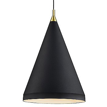 Shown in Black with Gold finish, Large size