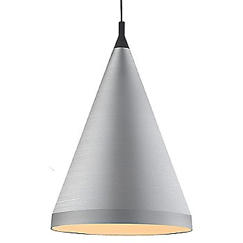 Shown in Brushed Nickel with Black finish, Large Size