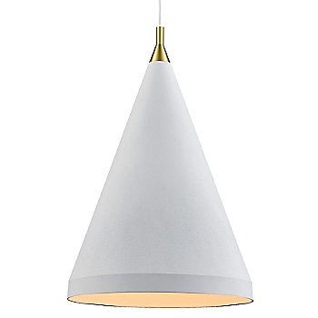 Shown in White with Gold finish, Large Size