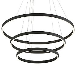 Cerchio LED 3-Tier Chandelier