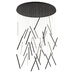 Chute LED Round Multi-Light Pendant Light
