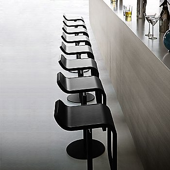 Powder Coated Black base with Black Leather seat at bar