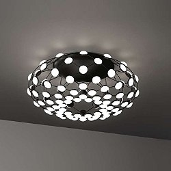 Mesh Semi-Flush Mount Ceiling Light