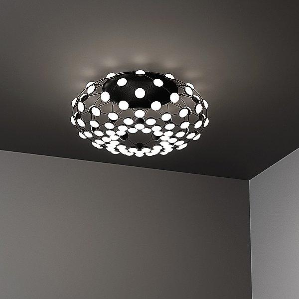 Mesh Semi-Flush Mount Ceiling Light