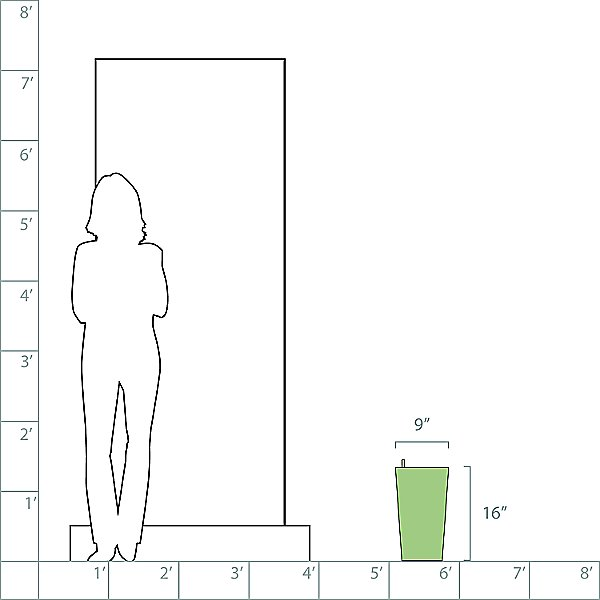 Cubico Color 22 AIO Self-Watering Indoor/Outdoor Planter
