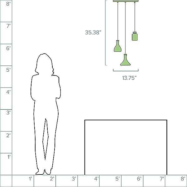 Decanterlight LED Multi-Light Pendant Light