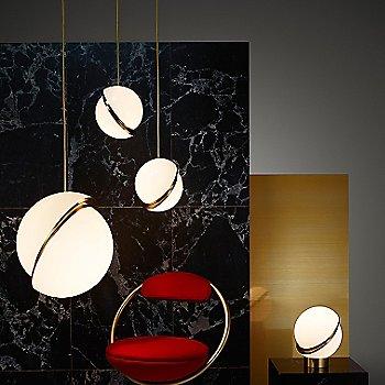 Brushed Brass finish / illuminated / in use
