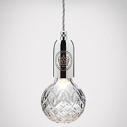 Crystal Bulb Pendant (Clear/Polished Chrome)-OPEN BOX RETURN